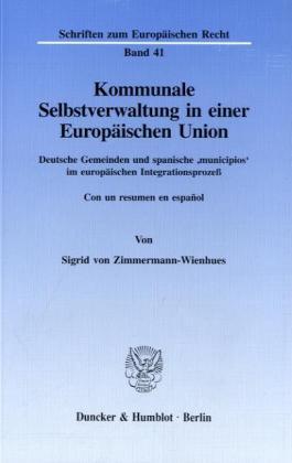 Kommunale Selbstverwaltung in einer Europäische...