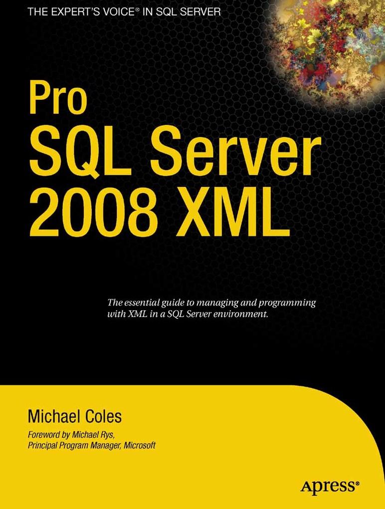 Pro SQL Server 2008 XML als eBook Download von ...