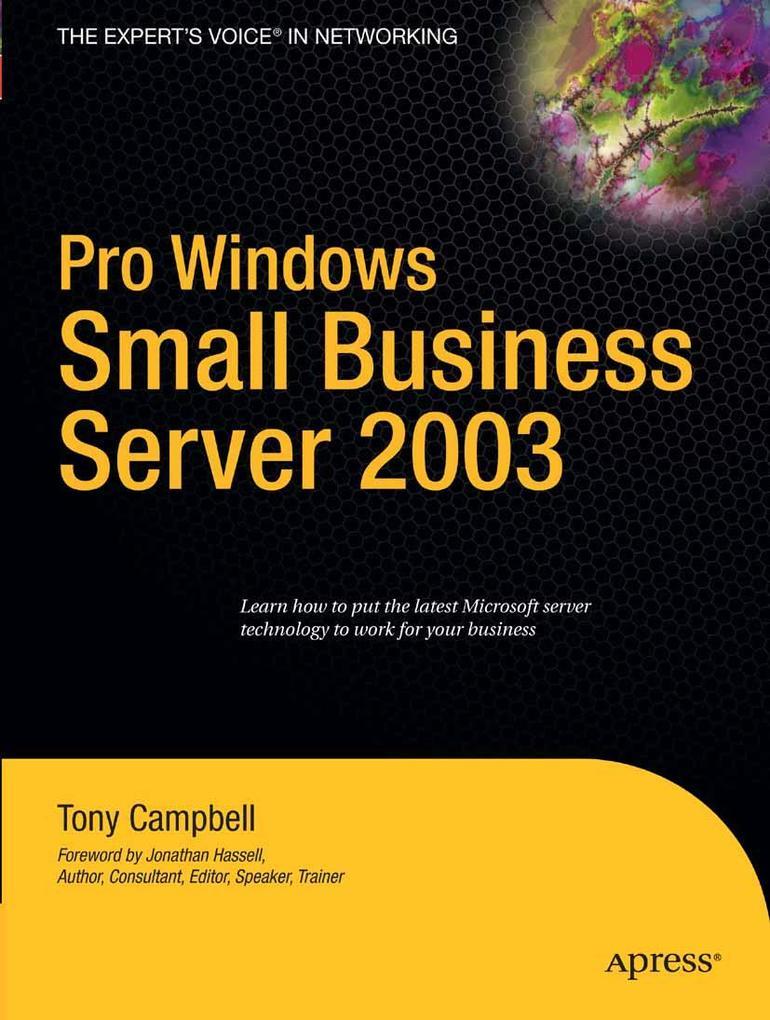 Pro Windows Small Business Server 2003 als eBoo...