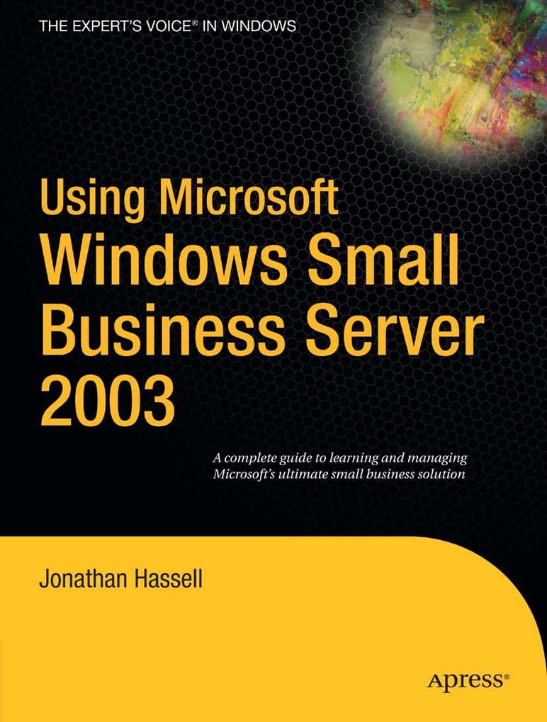 Using Microsoft Windows Small Business Server 2...