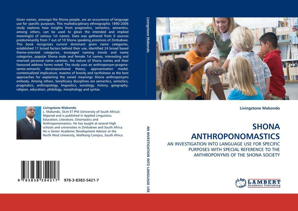 SHONA ANTHROPONOMASTICS als Buch von Livingston...