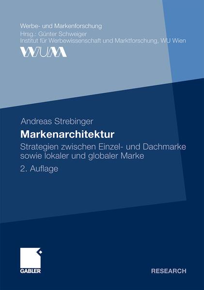 Markenarchitektur als Buch von Andreas Strebinger