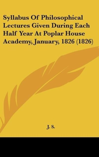 Syllabus Of Philosophical Lectures Given During...