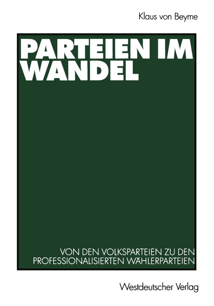 Parteien im Wandel als Buch von Klaus von Beyme