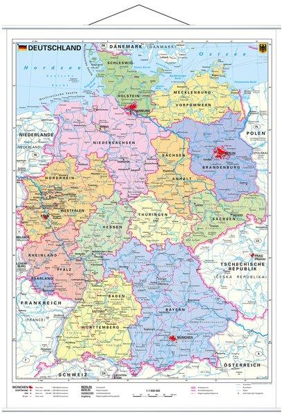 Deutschland, politisch 1 : 1 000 000. Wandkarte...