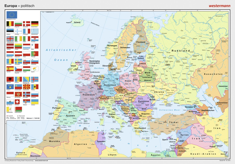 Posterkarten Geographie: Europa: politisch als ...
