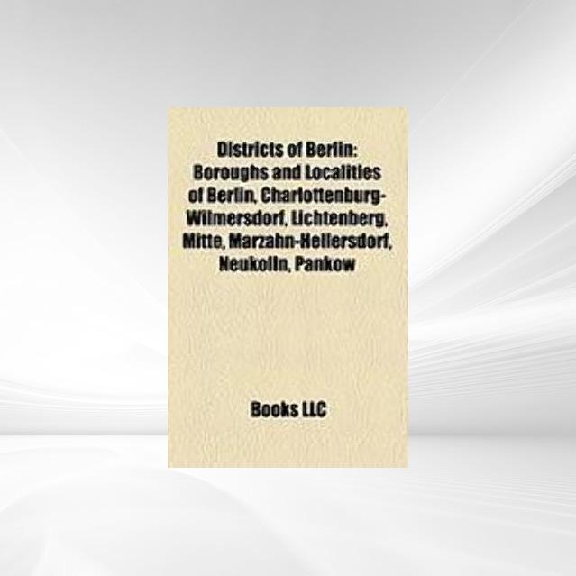 Districts of Berlin als Taschenbuch von