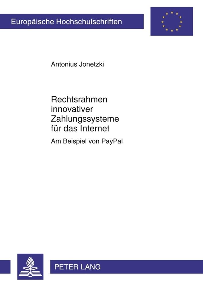 Rechtsrahmen innovativer Zahlungssysteme für da...