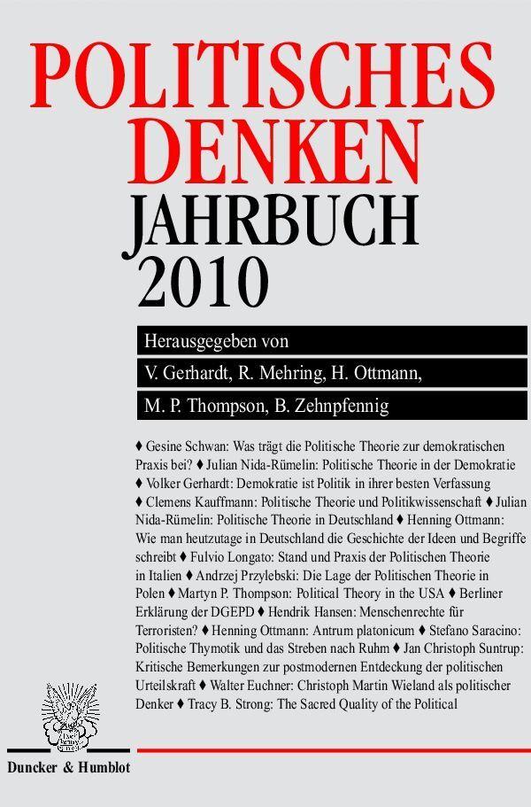 Politisches Denken. Jahrbuch 2010 als Buch von
