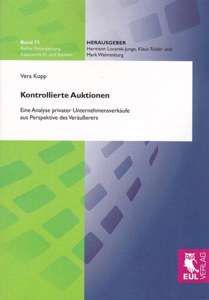 Kontrollierte Auktionen als Buch von Vera Kopp
