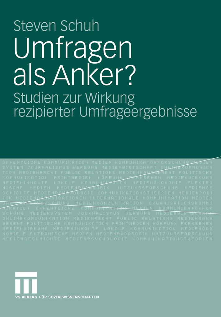 Umfragen als Anker? als eBook Download von Stev...