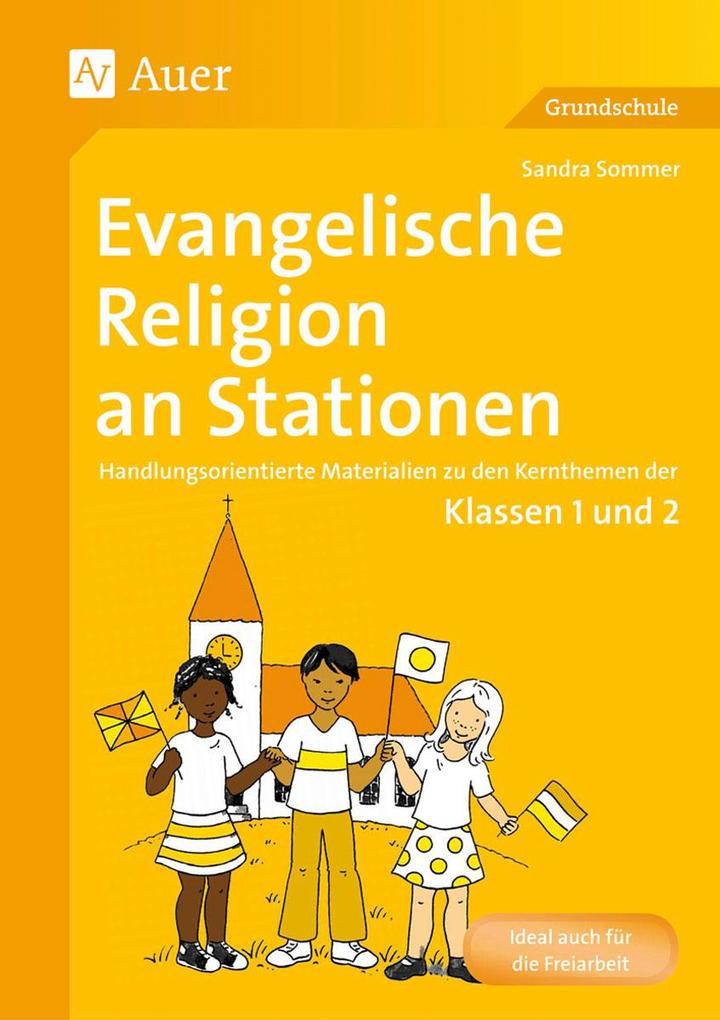 Evangelische Religion an Stationen als Buch von...