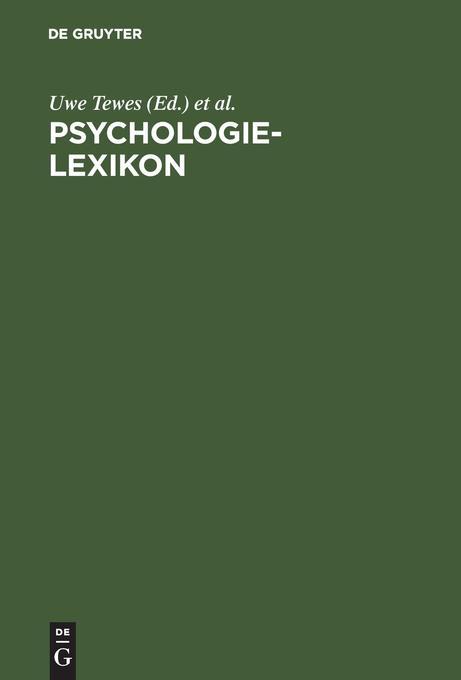 Psychologie-Lexikon als Buch von Uwe Tewes, Kla...