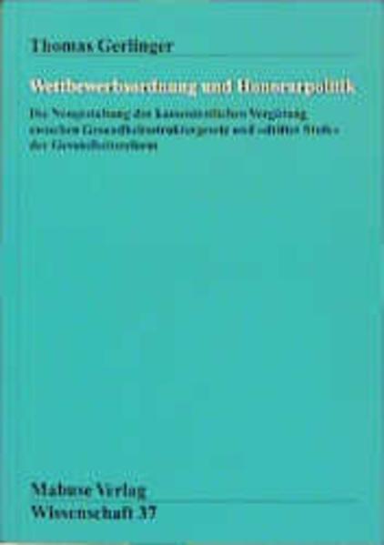 Wettbewerbsordnung und Honorarpolitik als Buch ...