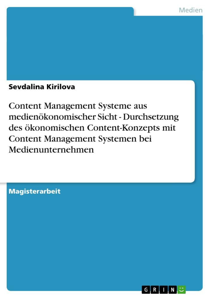 Content Management Systeme aus medienökonomisch...