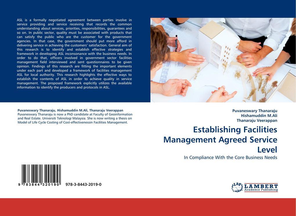 Establishing Facilities Management Agreed Servi...