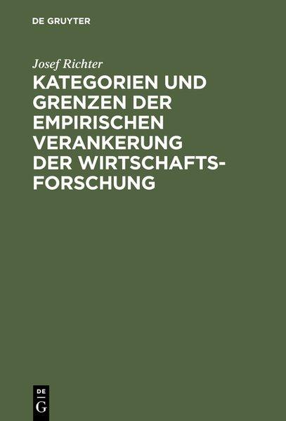 Kategorien und Grenzen der empirischen Veranker...