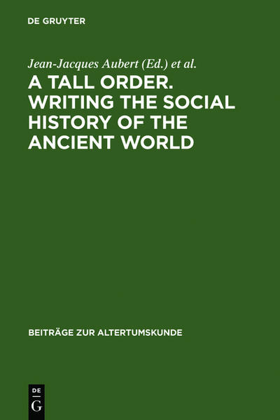 A Tall Order. Writing the Social History of the...