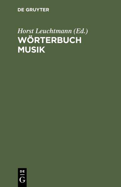 Wörterbuch Musik als Buch von