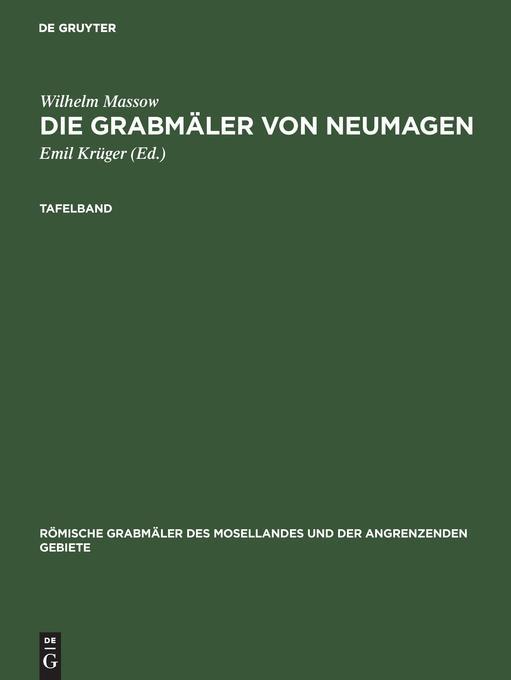 Die Grabmäler von Neumagen als Buch von Wilhelm...
