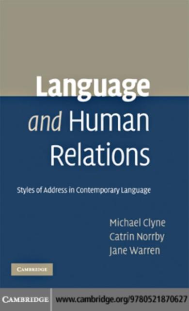 Language and Human Relations als eBook Download...