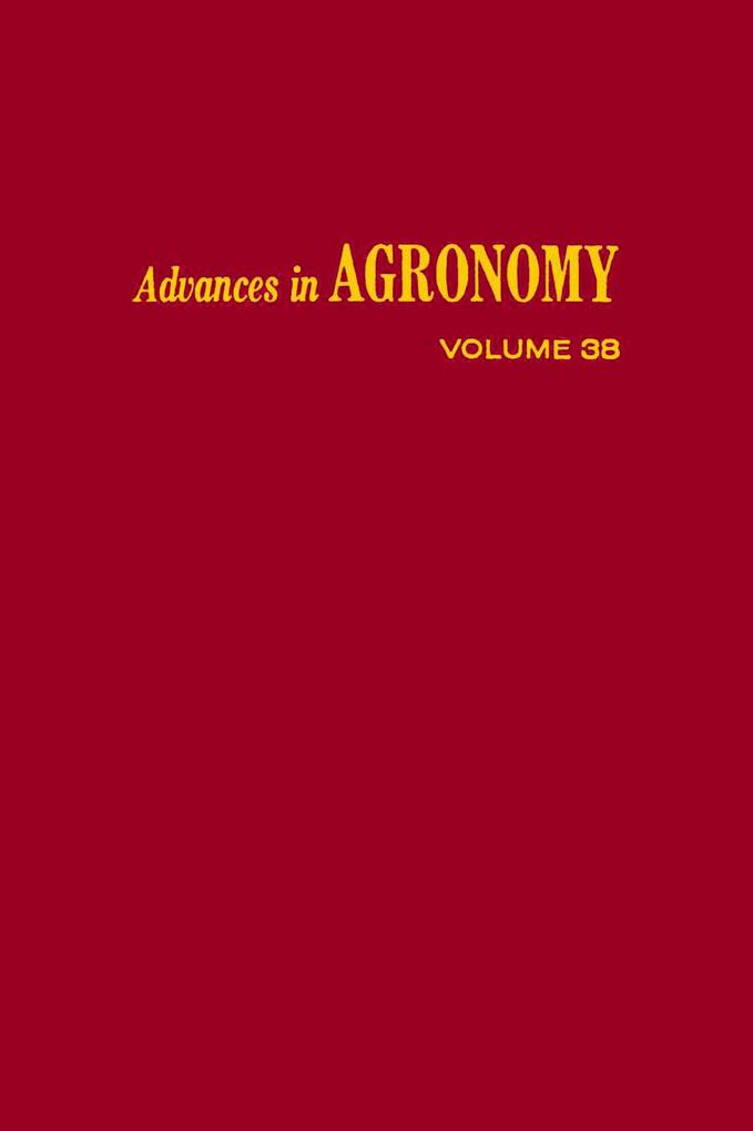 9780080563510 - Advances in Agronomy, Volume 38 - Buch