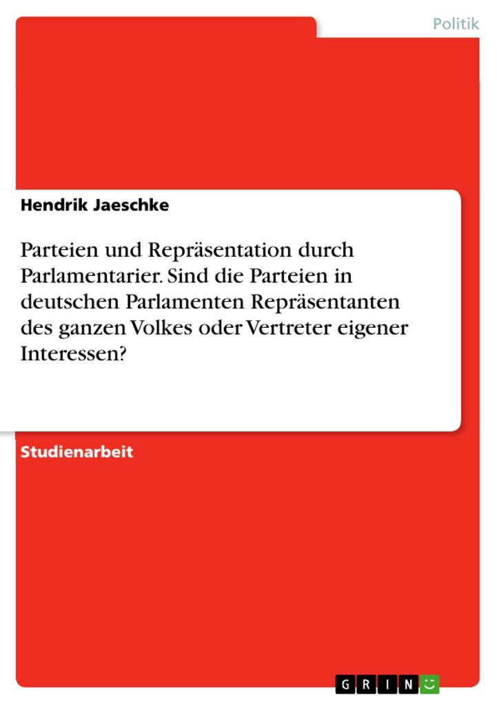 Parteien und Repräsentation durch Parlamentarie...