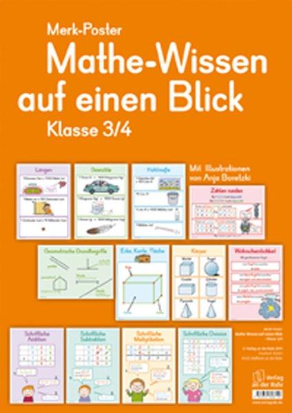 Merk-Poster Mathe-Wissen auf einen Blick Klasse...