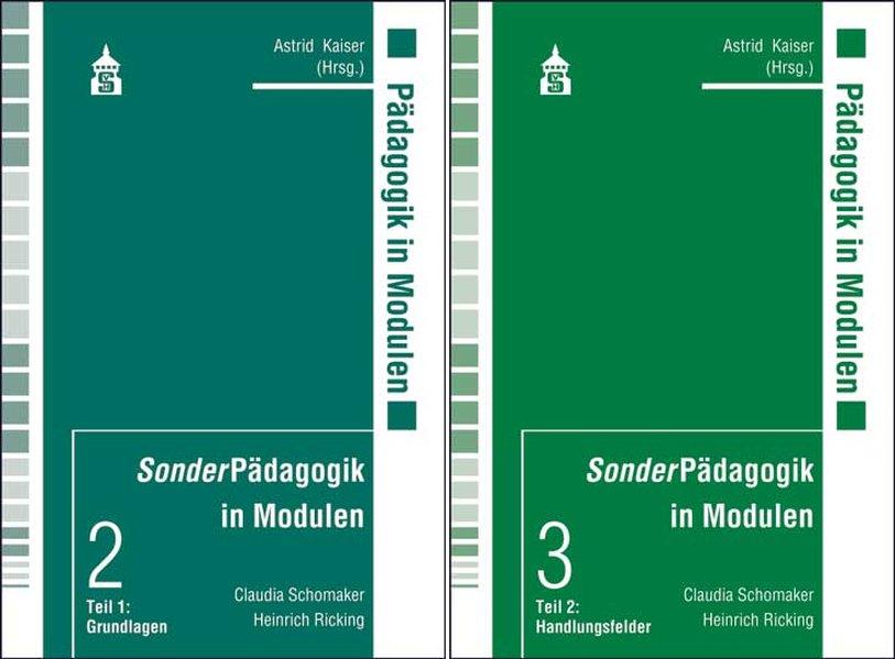 SonderPädagogik in Modulen. 2 Bände als Buch vo...