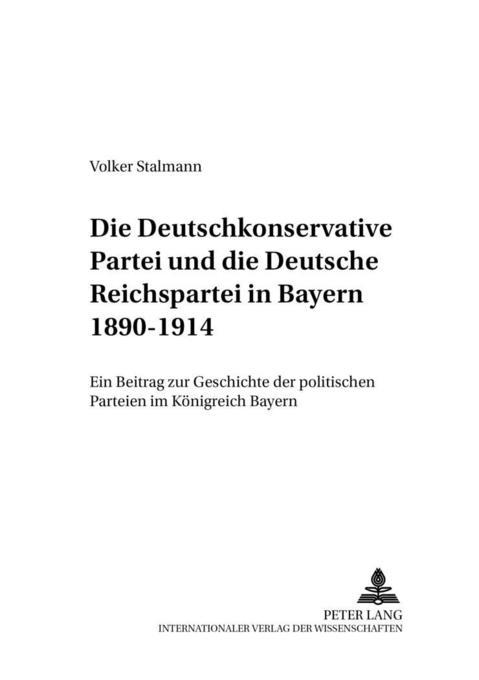 Die Deutschkonservative Partei und die Deutsche...