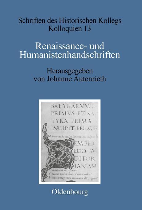 Renaissance- und Humanistenhandschriften als Bu...