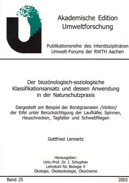 Der biozönologisch-soziologische Klassifikation...
