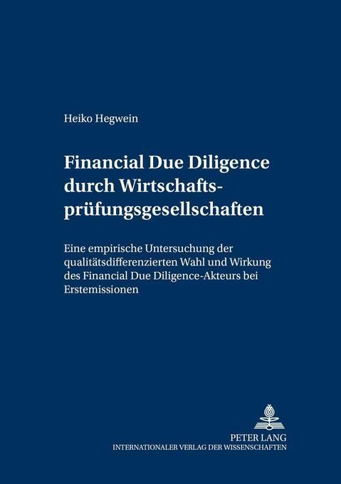 Financial Due Diligence durch Wirtschaftsprüfun...