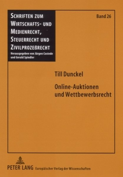 Online-Auktionen und Wettbewerbsrecht als Buch ...