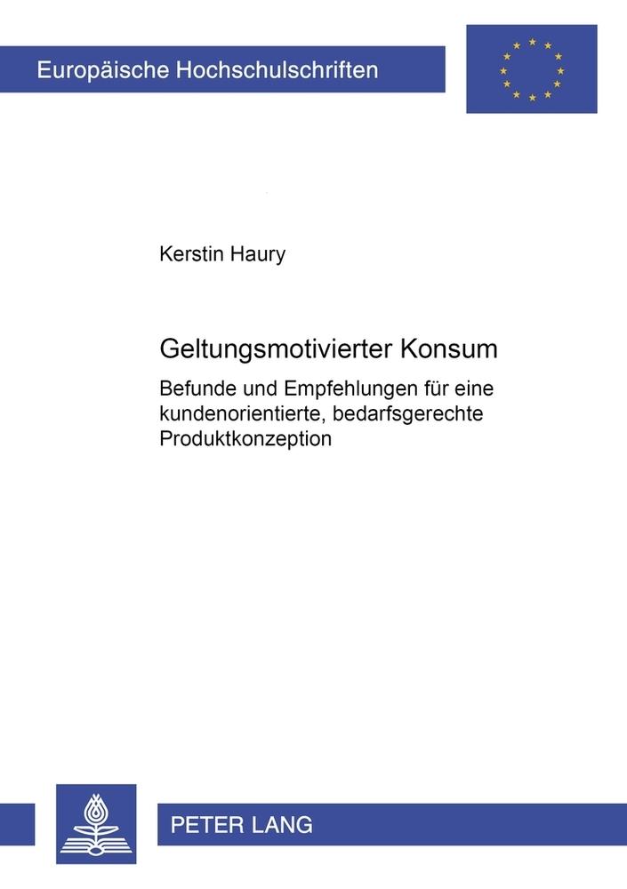 Geltungsmotivierter Konsum als Buch von Kerstin...