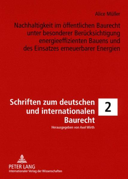 Nachhaltigkeit im öffentlichen Baurecht unter b...