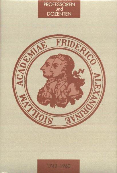 Die Professoren und Dozenten der Friedrich-Alex...
