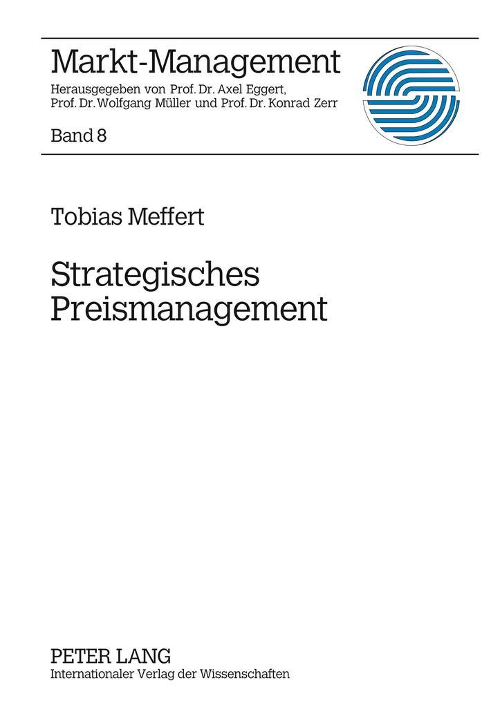 Strategisches Preismanagement als Buch von Tobi...