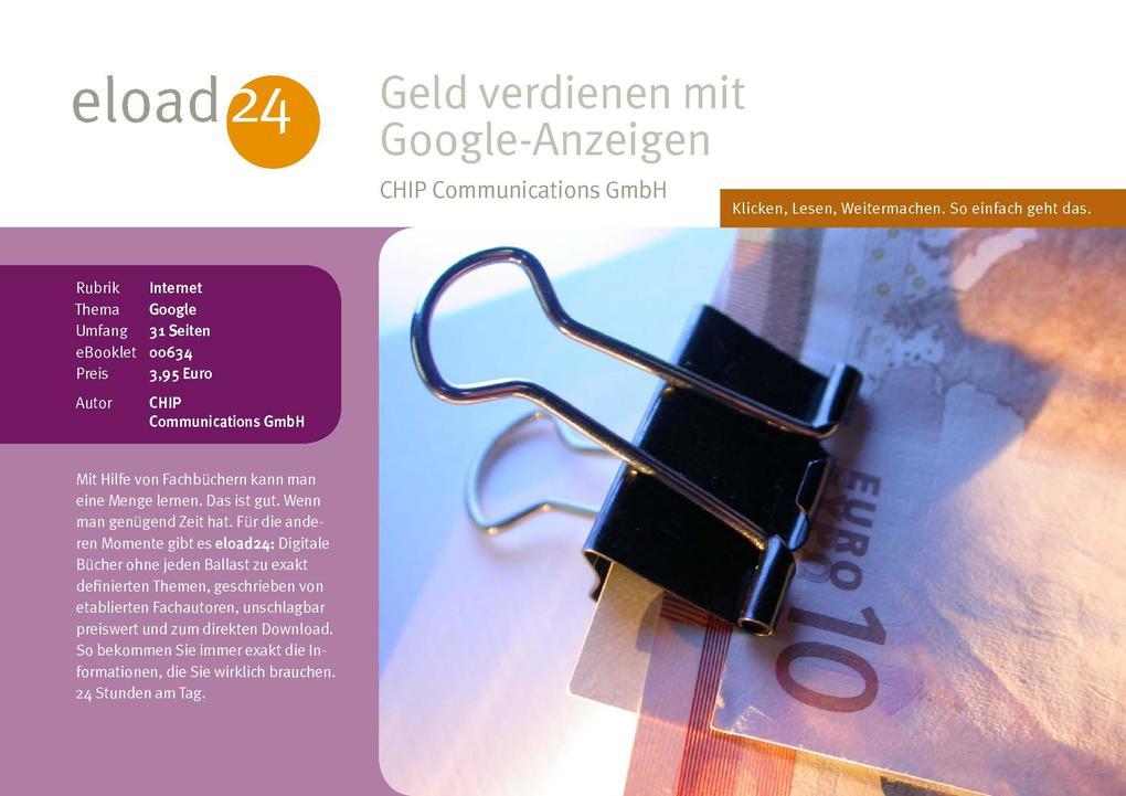 Geld verdienen mit Google-Anzeigen als eBook Do...
