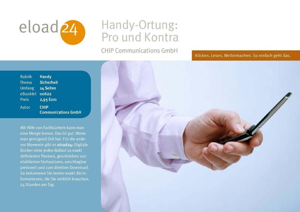 Handy-Ortung: Pro und Kontra als eBook Download...