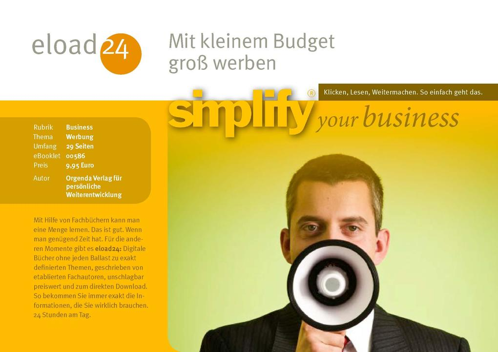 Mit kleinem Budget groß werben als eBook Downlo...