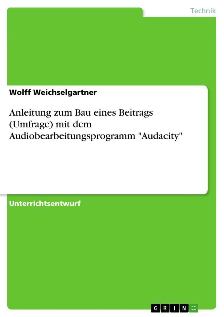 Anleitung zum Bau eines Beitrags (Umfrage) mit ...