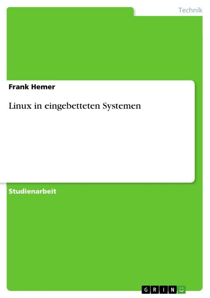 Linux in eingebetteten Systemen als eBook Downl...
