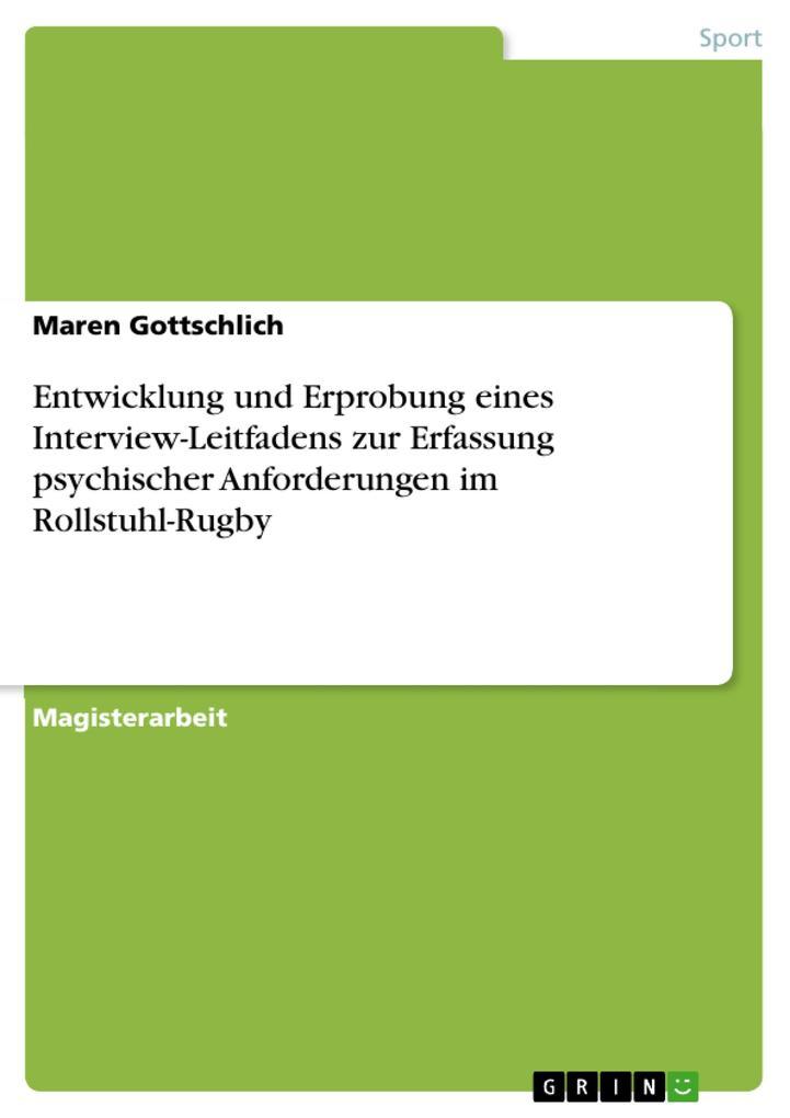 Entwicklung und Erprobung eines Interview-Leitf...