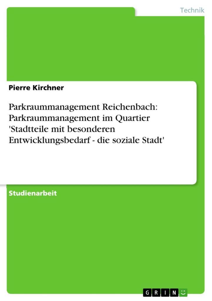 Parkraummanagement Reichenbach: Parkraummanagem...