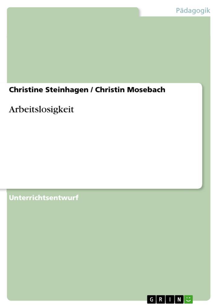 Arbeitslosigkeit als eBook Download von Christi...