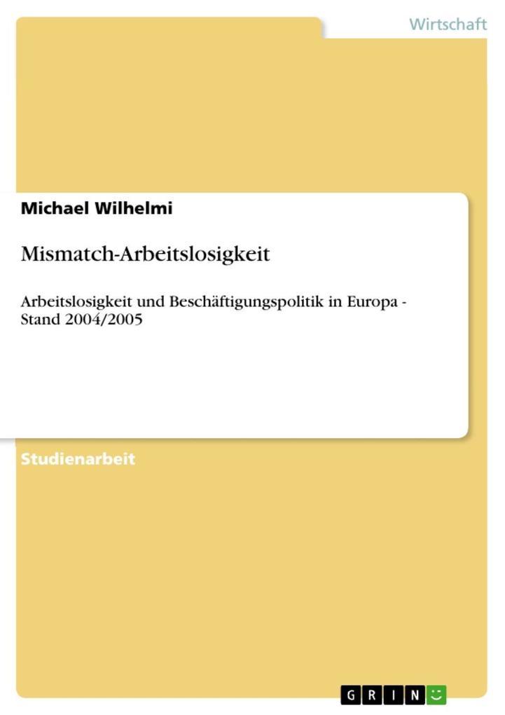 Mismatch-Arbeitslosigkeit als eBook Download vo...