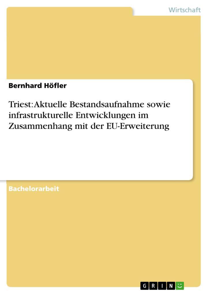 Triest: Aktuelle Bestandsaufnahme sowie infrastrukturelle Entwicklungen im Zusammenhang mit der EU-Erweiterung als eBook Download von Bernhard Höfler - Bernhard Höfler
