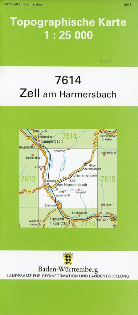 Zell am Harmersbach 1 : 25 000 als Buch von