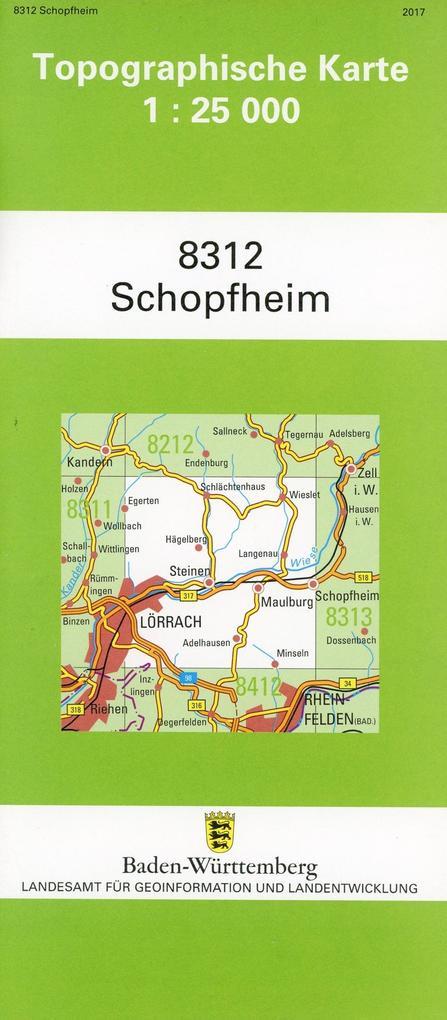 Schopfheim 1 : 25 000 als Buch von